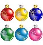 Bolas do Natal ajustadas Imagens de Stock Royalty Free