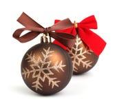 Bolas do Natal com curva Foto de Stock Royalty Free