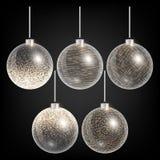 Bolas do Natal com decoração dourada Imagem de Stock Royalty Free