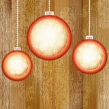 Bolas do Natal com lugar para o copyspace. + EPS8 Foto de Stock Royalty Free