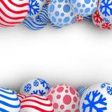 bolas do Natal 3D Foto de Stock