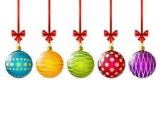 Bolas do Natal da cor ilustração do vetor