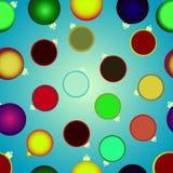 Bolas do Natal de várias cores, sem emenda Fotografia de Stock Royalty Free