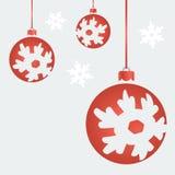 Bolas do Natal do vetor Fotografia de Stock