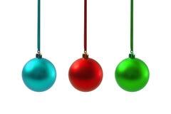 Bolas do Natal isoladas no ano novo do fundo branco Imagem de Stock