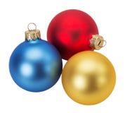 Bolas do Natal isoladas no fundo branco Foto de Stock Royalty Free