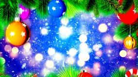 Bolas do Natal na árvore de Natal, fundo abstrato de Loopable ilustração stock