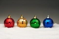 Bolas do Natal na neve Fotos de Stock