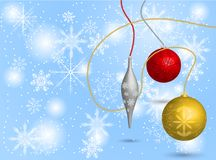 Bolas do Natal no fundo Imagens de Stock