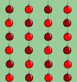 Bolas do Natal sem emenda Fotografia de Stock