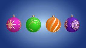 Bolas do Natal do vetor com testes padrões bonitos Eps 10 ilustração royalty free