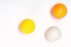 Bolas do pong do sibilo Fotografia de Stock Royalty Free