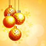 Bolas do Xmas para a celebração do Feliz Natal Imagem de Stock Royalty Free