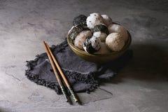 Bolas e ovos de arroz imagens de stock