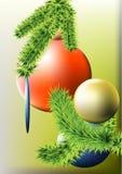 Bolas en el árbol de navidad Fotografía de archivo