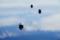 Bolas en el agua Imagenes de archivo