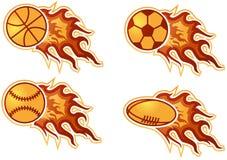 Bolas en llama libre illustration