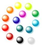 Bolas en un fondo blanco ilustración del vector
