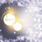Bolas estilizadas de la Navidad Imagen de archivo libre de regalías