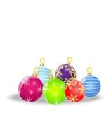 Bolas festivas en un fondo blanco Fotos de archivo libres de regalías