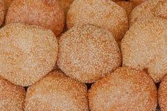 Bolas fritadas douradas da sobremesa Fotografia de Stock