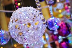 Bolas Glittery de la Navidad fotografía de archivo libre de regalías