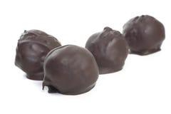 Bolas hechas en casa del chocolate de la mantequilla de cacahuete Foto de archivo libre de regalías