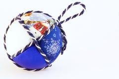 Bolas hechas a mano de la Navidad Imagen de archivo libre de regalías