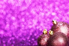 Bolas hermosas de la Navidad Imagen de archivo libre de regalías