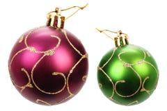 Bolas hermosas de la Navidad Fotos de archivo libres de regalías