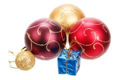 Bolas hermosas de la Navidad Foto de archivo