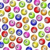 Bolas inconsútiles del bingo ilustración del vector