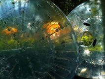 Bolas infladas en el parque Imágenes de archivo libres de regalías