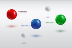 Bolas infographic Fotos de archivo libres de regalías
