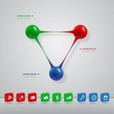 Bolas infographic ilustração stock