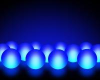 Bolas ligeras azules Fotos de archivo
