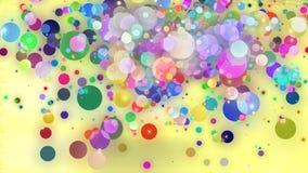 Bolas locas en color Imagen de archivo libre de regalías