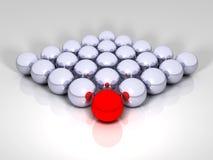 bolas metálicas 3D Ilustración del Vector