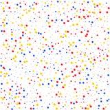 Bolas multicoloras del modelo en el fondo blanco Imágenes de archivo libres de regalías