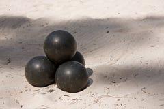 Bolas negras Imagenes de archivo