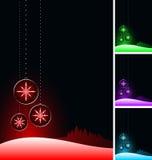 Bolas negras de la Navidad. Foto de archivo libre de regalías