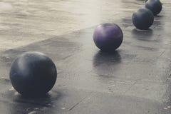 Bolas no pavimento Imagem de Stock Royalty Free