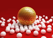 Bolas para el golf ilustración del vector