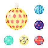 Bolas para los iconos de la historieta de la decoración en la colección del sistema para el diseño Ejemplo del web de la acción d Imagen de archivo libre de regalías