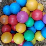 Bolas plásticas foto de stock