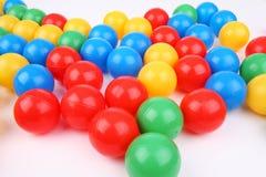 Bolas plásticas Imágenes de archivo libres de regalías