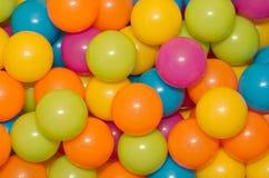 Bolas plásticas Fotos de archivo libres de regalías
