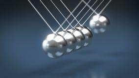 Bolas que despiden de la cuna de Newton colocado libre illustration
