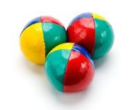 Bolas que hacen juegos malabares Foto de archivo libre de regalías