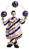 Bolas que hacen juegos malabares del payaso de circo Fotografía de archivo